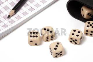 dice on white