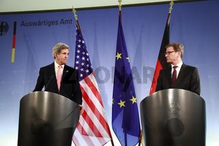 U.S. secretary of state John Kerry meets German German FM Westerwelle.