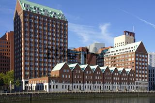 Skyline in Rotterdam, Kop van Zuid, Spoorweghaven