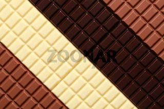 3 Sorten Schokolade