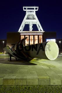 Bochum - Bergbaumuseum bei Nacht