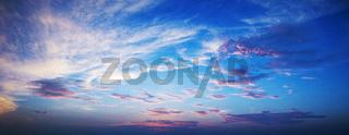 High resolution panorama of a sunset sky
