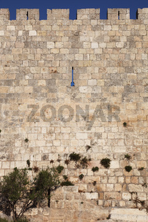 The walls of Jerusalem in a summer day