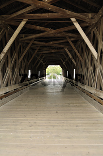 Inside of Covered Bridge over Zumbro River in Zumbrota
