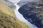 Saar bend at Mettlach, Saarland, Germany, Europe