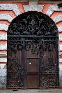 Art-Nouveau old door in Tbilisi Old town, Republic of Georgia