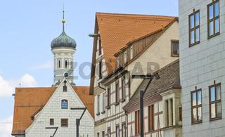 Neue Straße Ulm, Richtung Dreifaltigkeitskirche