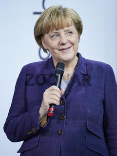 Angela Merkel awards 'Young Scientist' winners.
