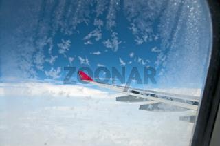Linke Tragfläche mit Winglet und Flap Track Fairings, Verkleidungen der Landeklappenträger, Airbus 330-200, Fluggesellschaft air berlin
