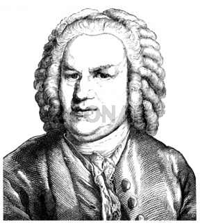 Johann Sebastian Bach, 1685 - 1750, a German composer and organ