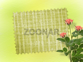 Card for congratulation or invitation with bunch of flowers