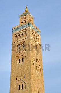 Koutoubia-Moschee in der historischen Medina, Wahrzeichen der Stadt, Marrakesch, Marokko, Afrika