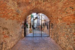 Old passage. La Morra, Northern Italy.