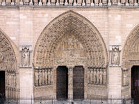 Main entrance to Notre-Dame Cathedral