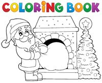 Coloring book Santa Claus theme 9 - picture illustration.