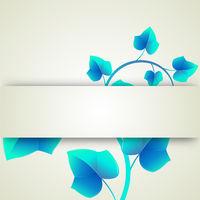 Banner blue leaves curls