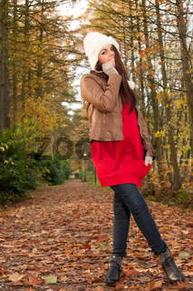 Fashion pose in the autumn
