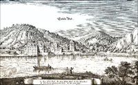 Historical  cityscape, Bad Ems, Germany, Europe, 17th Century