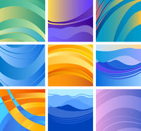 background abstract design set