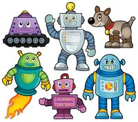 Robot theme collection 1 - picture illustration.
