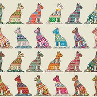 Seamless cats pattern