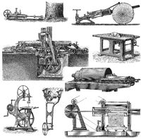 19th Century, sawing machines