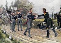 Emperor Alexander I of Russia meets Frederick William III of Prussia, 1813