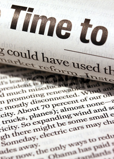 Close up of newspaper