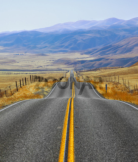 California, road and fencings