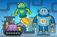 Robot theme image 5 - picture illustration.