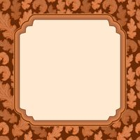Decorative frame with leaves 1 - picture illustration.