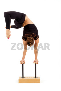 Young professional gymnast woman