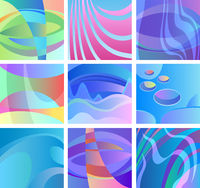 background glow abstract design set