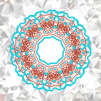 Mandala  element with abstract pattern.
