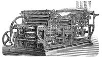 Industrial printing press, 19th Century