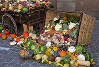 basket of colorful vegetables,Colmar, France