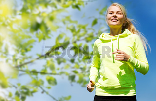 woman jogging outdoors