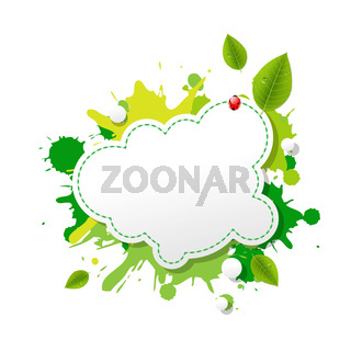 Green Eco Speech Bubble