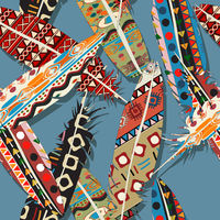Ikat feather pattern 3