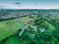 Over Looking Green Field Portrait