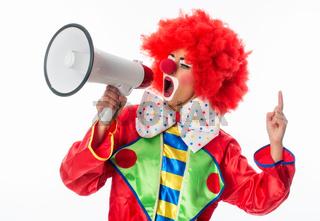 clown mit megafon