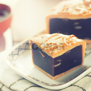 Mid autumn festival foods mooncake
