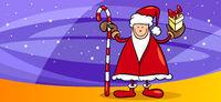 santa greeting card cartoon illustration