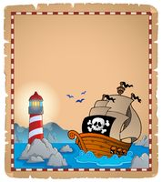 Pirate theme parchment 5 - picture illustration.