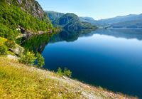 Summer mountain lake Suldalsvatn (Norway)