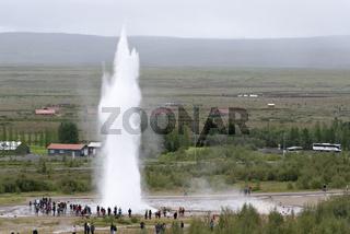 Strokkur, Strokkur Geysir,  Geyser Strokkur, Island, Iceland