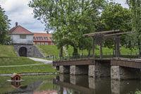 Drawbridge over the moat