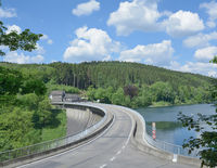 Agger reservoir,Bergisches Land,Germany