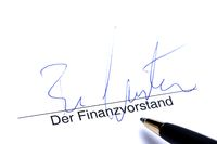 Signature of Financial Officer