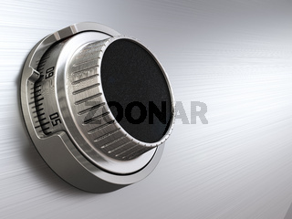 Combination safe dial lock. Concept of banking.  Closeup background.